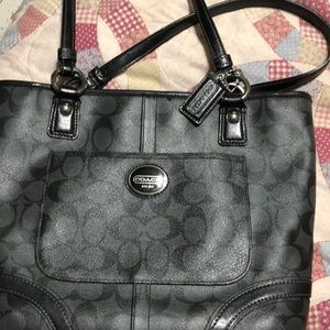 Authentic black Coach purse. Great condition.